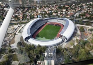 Din avion, Cluj Arena